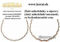 Zlaté náhrdelníky od KORAI