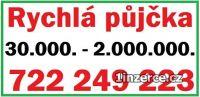 Rychlá půjčka 722 249 223