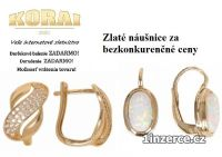 Náušnice zo žltého zlata KORAI