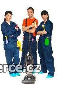 Servisní pracovník úklidu .