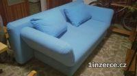 modrá sedačka rozkládací