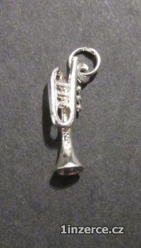 Trumpeta - přívěsek ze stříbra