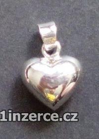 Trojrozměrné srdce - stříbrný
