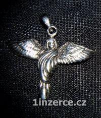 Žena s křídly - stříbrný přívě