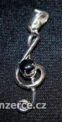 Houslový klíč zdobený černým k