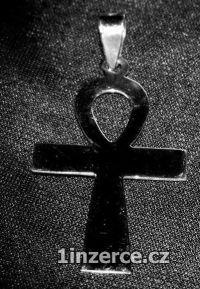 Větší nilský kříž - stříbrný p