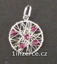 Opletený kruh - fialový - stří