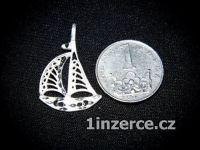 Loď - plachetnice - stříbrný p