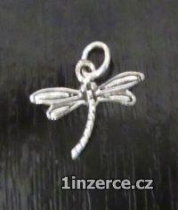 Malá vážka - přívěsek ze stříb