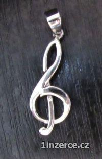 Houslový klíč ze stříbra - pří