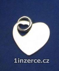 Srdce s kroužkem na zavěšení -