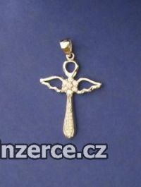 Anděl ve tvaru kříže - přívěse