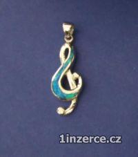 Velký houslový klíč zdobený op