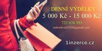 5000 KČ - 15 000 KČ DENNĚ !!!
