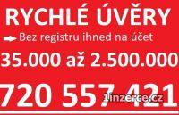 ÚVĚRY BEZ REGISTRU 720557421